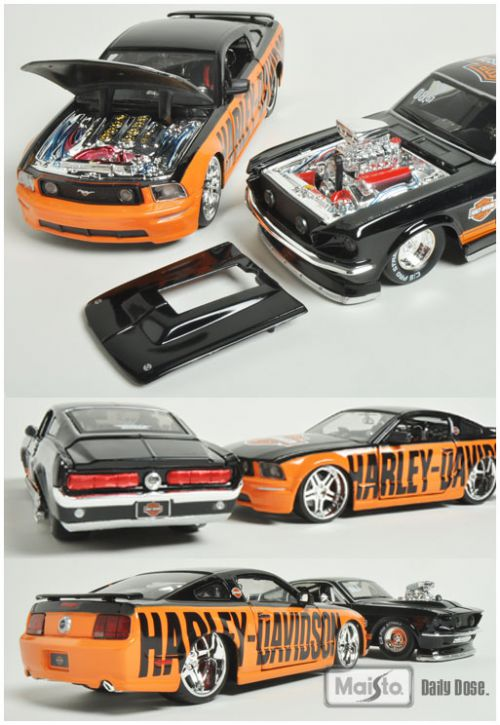 Ford Mustang и Harley-Davidson